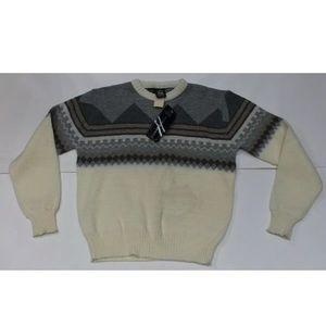 Mens L Vintage Kennington sweater  wool geometric
